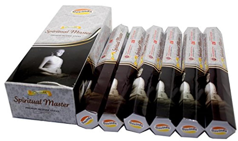 作家アトミック問い合わせGovinda ® Incense – Spiritual Master – 120 Incense Sticks、プレミアムIncense、Masalaコーティング