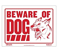 BAZIC 9 X 12 Beware of Dog Sign Case of 24 (S-10-24) [並行輸入品]