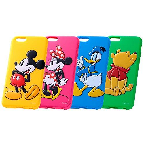 レイ・アウト iPhone6 (4.7インチ)用 ディズニー・3Dレリーフ・ソフトジャケット カラフル くまのプーさん RT-DP7G/PO