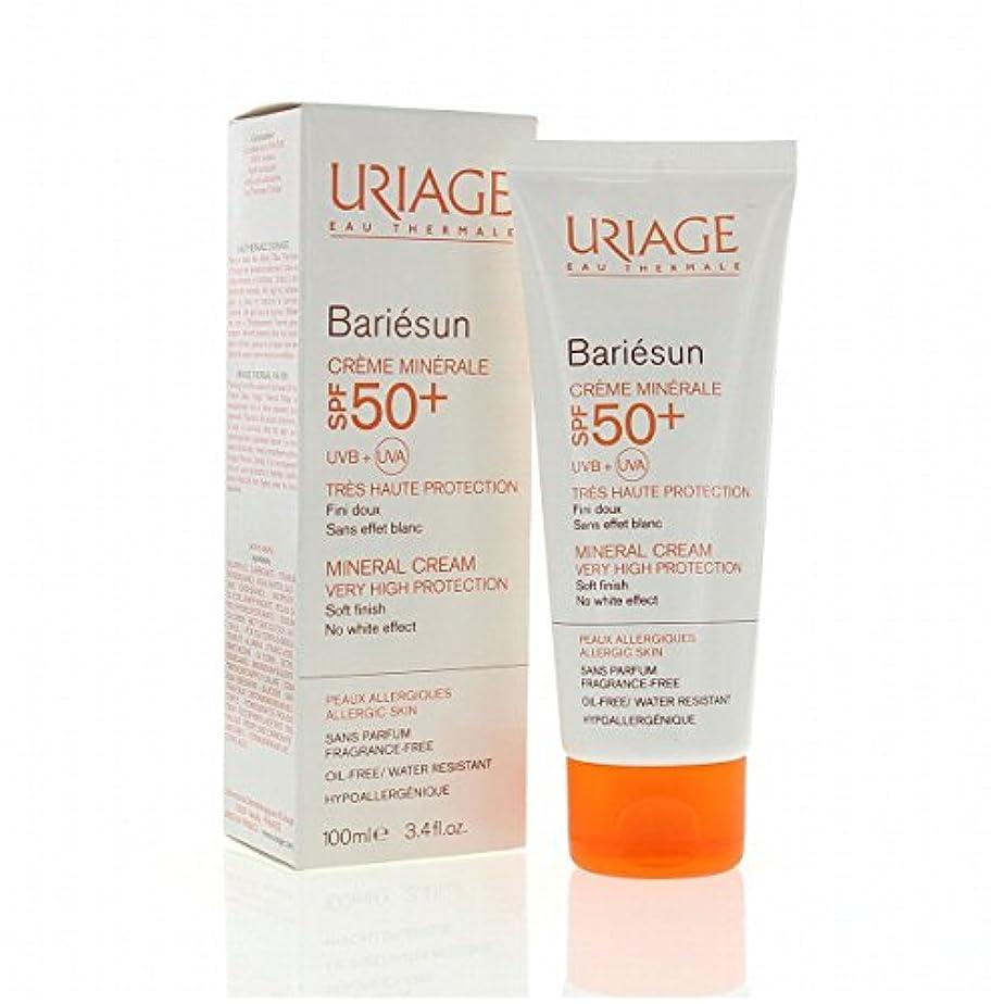 校長香ばしい汚れたUriage Bariesun Mineral Cream Spf50+ 100ml [並行輸入品]