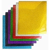 TECKWRAP 熱転写シート アイロンプリントシート ラバーシート Tシャツなどの衣類や織物、切れ地に使う 多色 グリッター ラメあり 30cm×25cm×7枚