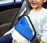 [Imotti] シートベルトカバー お子様用 首すれ防止 シートベルトパット メッシュタイプ ダスターセット (ネイビー)