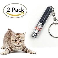led おもちゃ 猫 LED ポインター 電池式 ライト レーザー じゃれ猫 猫用光るおもちゃ2個(黒)