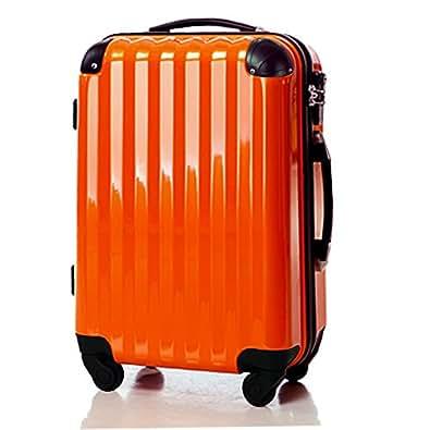 スーツケース 機内持ち込み可・超軽量・小型・Sサイズ・TSAロック・キャリーバック・オレンジ 6202 (オレンジ)