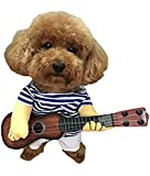 (エスライフ)S-Lifeeling ペット服 コスプレ ギター クリスマス 面白い かわいい かっこいい コスチューム 猫服 犬服 ソフト 小型犬 中型犬 変身服 出掛け 散歩 コスプレ服