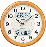 CASIO (カシオ) 掛け時計 WAVE CEPTOR ウェーブセプター 電波時計 六曜カレンダー表示 温度表示 湿度表示 ICC-3100J-7JF