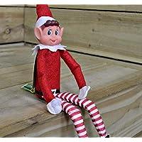 クリスマスElfソフトおもちゃSmiley Face sits onシェルフ Pack of 3 13056