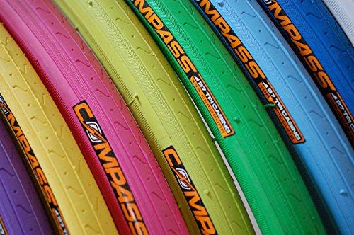 【 ザイルジャパン 】COOLに決めろ! ピスト ロードバイク 専用 WOタイヤ 10カラーバリエーション 700×23Cサイズ (ピンク)