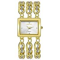 MOZISEN スタイリッシュな時計 WEIQINスクエアダイヤモンドダイヤモンドクォーツ時計ブレスレットウォッチ 美しい時計 (Color : 1)