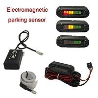 TK-SERVICE 穴あけ不要 電磁パーキングセンサー バックセンサー アラーム&LEDモニター付き 12v 16ヶ月保証 TK-SERVICE-