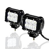 KAWELL LED ワークライト18W CREE製 広角タイプ 防水・防塵・耐震・長寿命 12V-24V対応 トラック用品 LED ワークライト 作業灯  2個入り