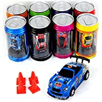 Bhbuy Multi color Coke Can Mini Speed RC Radio Remote Control Micro Racing Car Toy Gift by Bhbuy