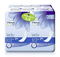 Tena Lady Extra Plus (Now Also In Duo Pack) - Duo Pack Absorbency 300ml - 16 Pieces - Pack Of 1 by Tena