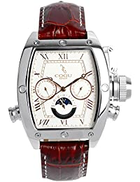 [コグ]COGU 腕時計 ウォッチ 自動巻き(手巻つき) 日付・曜日表示 上質レザーバンド ビジネス フォーマル メンズ