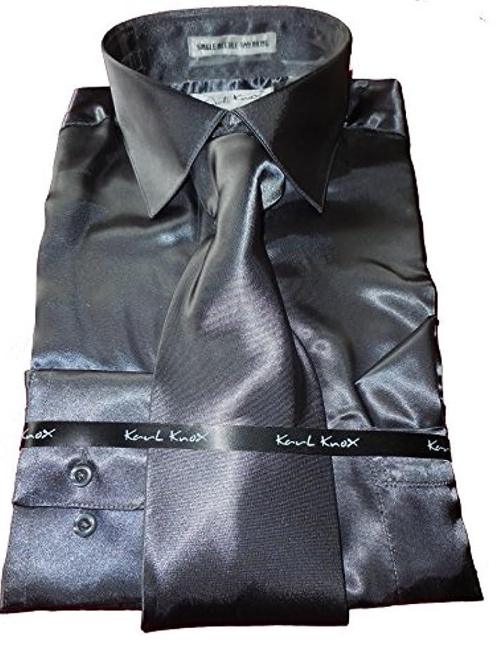 上テスト再開Karl Knox - Valentini Daniel SHIRT メンズ US サイズ: 2XL 18.5 collar 36/37 sleeve カラー: グレイ