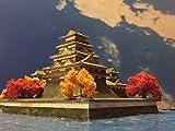 日本100名城  広島城天守・小天守  お城 模型 ジオラマ完成品 B4サイズ