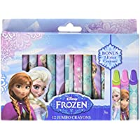 Disney Frozen 12ジャンボクレヨンwith Bonus 3 Extraクレヨン(合計15 )