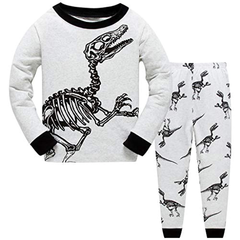 男の子パジャマ 子供 スーツ 綿パジャマ 長い袖 ナイトウェア 恐竜
