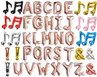 【Poimi-R】アルファベット バルーン ローズゴールド ピンク サイズ約40cm 文字 風船 誕生日 イベント サプライズ 装飾に (ローズゴールド:R)