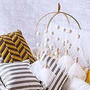 Okawari Home Mobile Wooden White Whirlling Toy Wool Felt Handmade Bed Merry Healing Relaxing Living Room Bedro