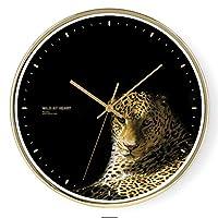 テーブルの壁時計と時計中国のスタイルのベッドルームの壁時計ミュートリビングルームの時計ホームウォールチャートミュート精密クラシックレトロ (Color : Black, Size : 30 * 30 * 2cm)