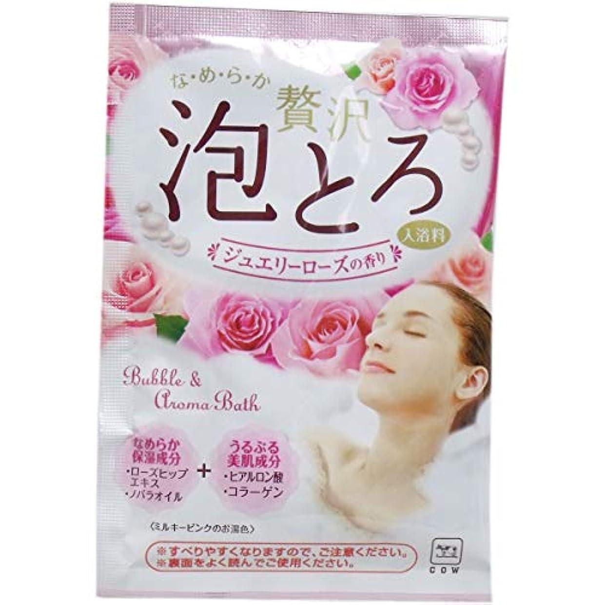 理容室不利益罪人牛乳石鹸共進社 贅沢泡とろ 入浴料 ジュエリーローズの香り 30g × 120点
