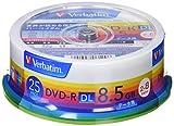 三菱ケミカルメディア Verbatim 1回記録用 DVD-R DL DHR85HP25V1 (片面2層/2-8倍速/25枚パック) 画像