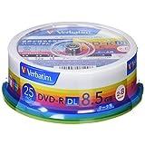 三菱ケミカルメディア Verbatim 1回記録用 DVD-R DL DHR85HP25V1 (片面2層 2-8倍速 25枚パック)