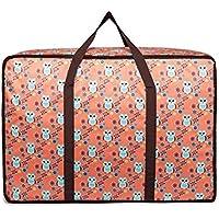 大型ストレージバッグフクロウのパターンポータブル高品質の旅行の主催者防水水分を吸収するオックスフォード布の布団のキルトの衣類移動仕上げ荷物の収納袋 (サイズ さいず : 50 * 20 * 40cm)