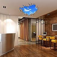 3D家の装飾の青い空取り外し可能な壁のステッカー、サイズ:60 cm x 90 cm デコレーション