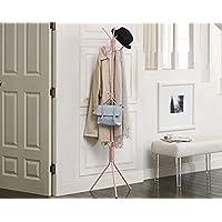 フロアハンガー、シンプルなシングルポールバッグラック、コートラック、シンプルな家庭用ベッドルーム衣服ラック