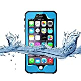 Merit iphone6s/iphone6用防水ケース 改良版 アイフォン防水ケース 防水カバー 手帳型防水保護ケース 防塵 耐衝撃IP68テスト承認 指紋認識 本体液晶保護フィルム付き (水色)