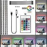 VAWcornic 4X0.5m LEDテープライト テレビ TVバックライト PC照明 USB LEDテープ 車内装飾用 SMD5050RGBテープライト 高輝度 イルミネーションライト 間接照明 切断可能 フットライト 携帯しやすい 両面テープ 看板照明 棚下照明
