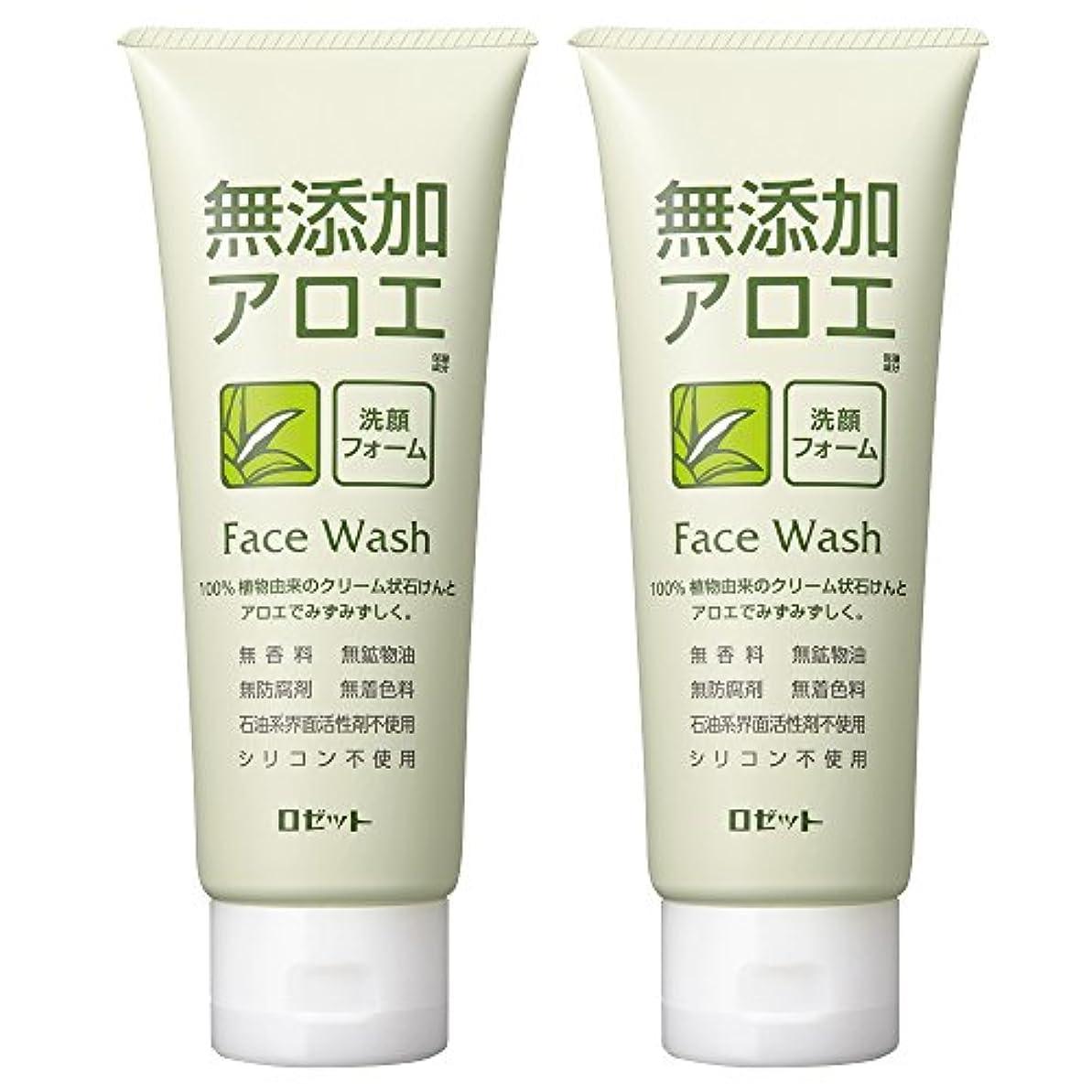 おもてなしインレイチャートロゼット 無添加アロエ 洗顔フォーム 140g×2個パック AZ