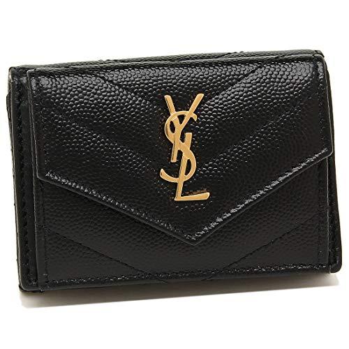 [サンローラン]折財布 レディース SAINT LAURENT PARIS 505118 BOWA1 1000 ブラック [並行輸入品]