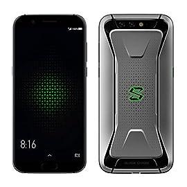 液体冷却ゲーミングスマホ・5.99インチ FHD・後20.0MP +12.0MP + 前20.0MP カメラ搭載★Xiaomi Black Shark ★AI対応 Snapdragon 845 Joy UI(Android 8.0)搭載・4G LTE+4G/3G 同時待受けDSDV対応 英語版・6GB/8GB RAM + 64GB/128GB ROM (メーカー保証付きRAM 8GB+ROM 128GB+Game Cotroller, Silver)