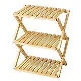 コーナン オリジナル コーナンラック 折り畳み式木製ラック W460(3段) ナチュラル 3段