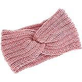 ESUPPORT Warm Headband Women Winter Knit Wool Classic Stretch Sport Head Wrap for Girl Ear Warmer, Khaki