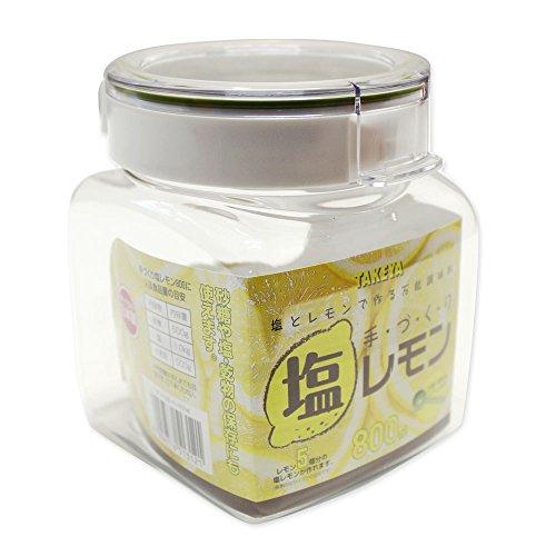 保存容器 手づくり塩レモン 800 スプーン・レシピ付 TA...