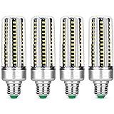KLED 4Pack LED Corn Light Bulb, 25W, E27 Socket, 6000K Cool White, 180W Equivalent,2000Lumen,LED Light Bulb for Home, Warehou