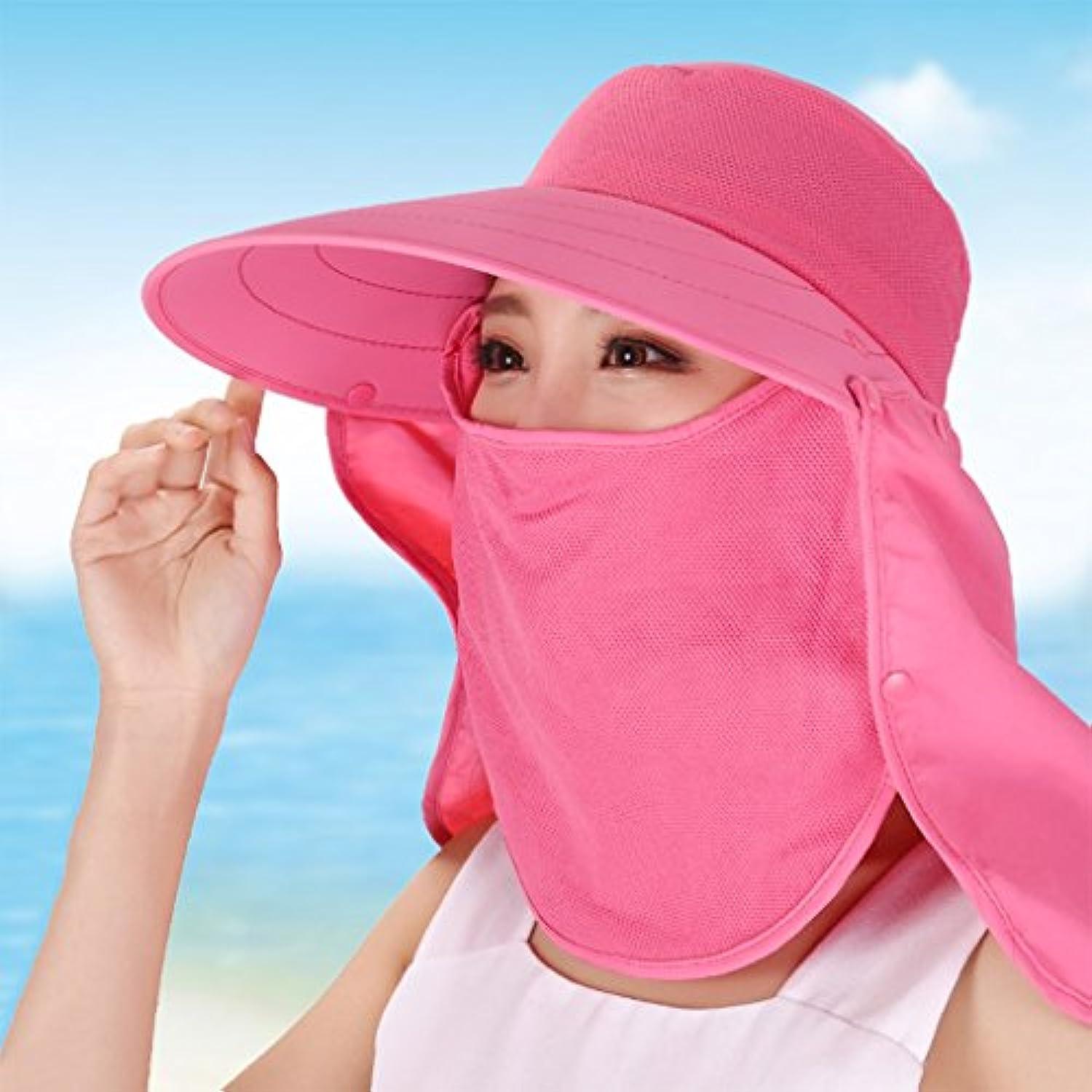 YXI 女性の 日焼け止め 夏 カバー面 抗UV 日よけ帽 グレートエッジ 折りたたみ可能 サマーハット (色 : 1)
