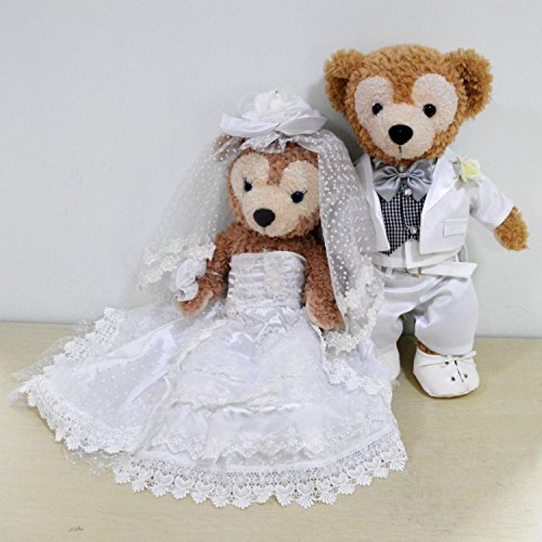 ダッフィーシェリーメイコスチューム ウェディングドレス豪華 wedding dress 衣装 duffy コスチューム シェリーメイ洋服 ダッフィー洋服 結婚プレゼント男女セット