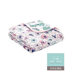 aden + anais (エイデンアンドアネイ) 【日本正規品】モスリンコットン ミニ・ドリーム・ブランケット(トレイルブルーム) trail blooms - flora mini dream blanket 7002