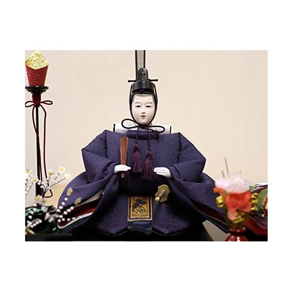 雛人形 ケース入り親王飾り 春日雛 加賀蒔絵バ...の紹介画像4