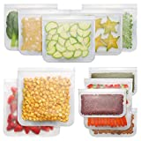 Bayco Reusable Storage Bags (12 Pack) 2 Gallon & 5 Sandwich Lunch Bags & 5 Small Kids Snack Bags For Food, EXTRA THICK Reusable Food Bags, Reusable Freezer Bags, Reusable Ziplock Bags, BPA FREE