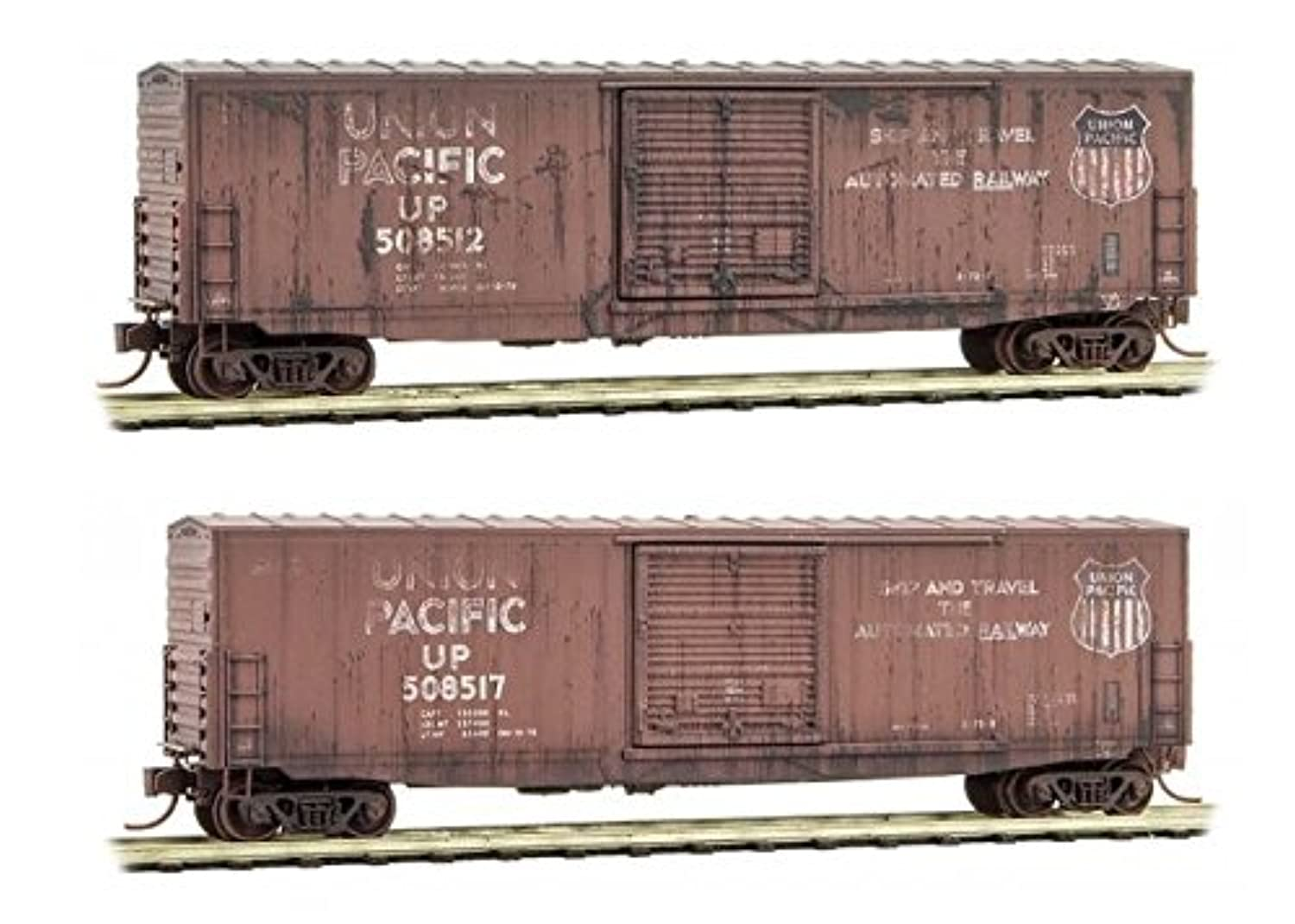 Micro-Trains MTL N-Scale 15m SD Box Cars Union Pacific/UP - Weathered 2-Pack