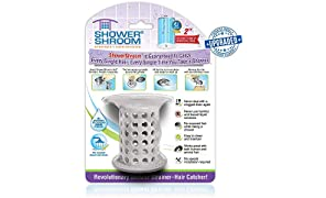 "ShowerShroom The Revolutionary 2"" Stand-Up Shower Stall Drain Protector Hair Catcher/Strainer Gray"