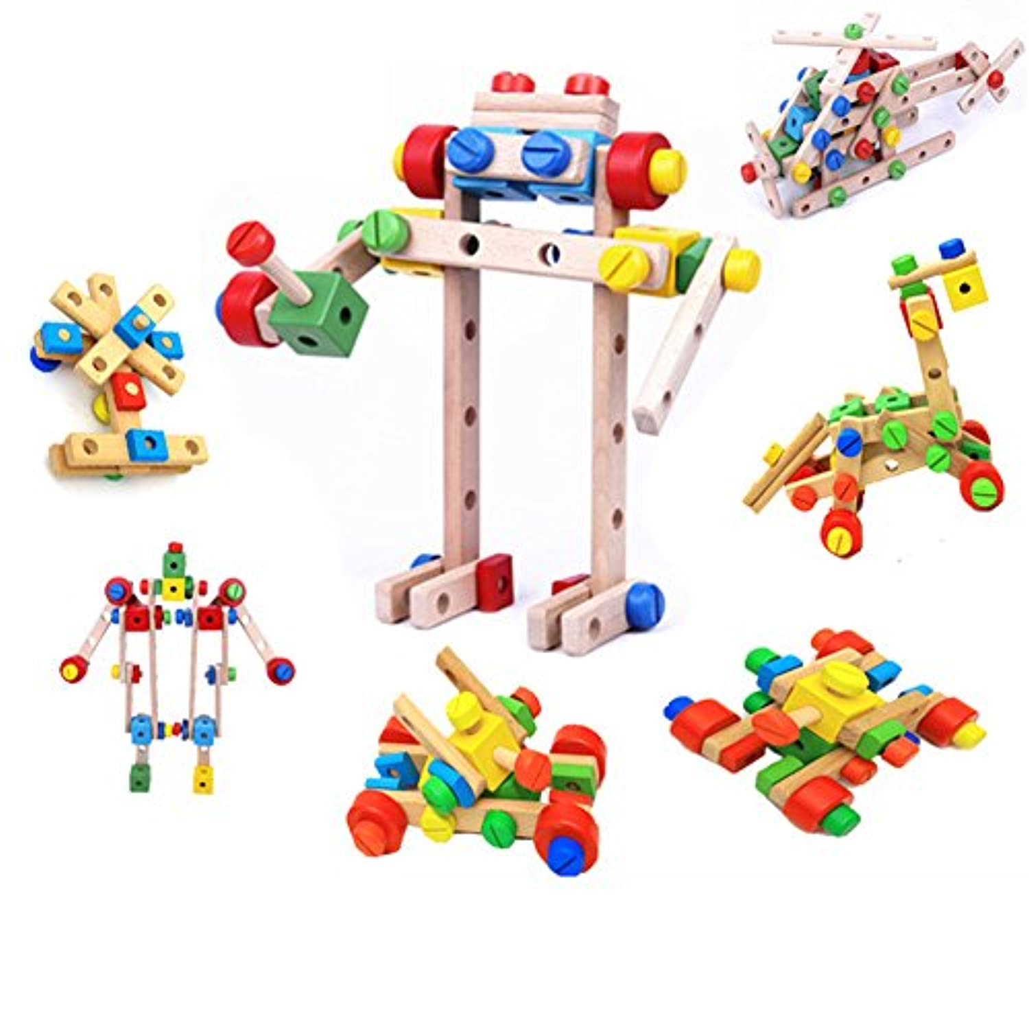 (Nut) - Xtone DIY Screw Block Wooden Combination Stacking Construction Early Learning Playing Toys Sets
