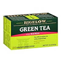 Bigelow Green Tea with Mango 20 bags ( Pack of 2 )