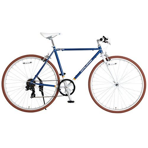 DOPPELGANGER クロスバイク 700×28C シマノ7段変速 [サムシフター ] 前輪クイックリリース 前後キャリパーブレーキ メタリックブルー Contrail 420-BL